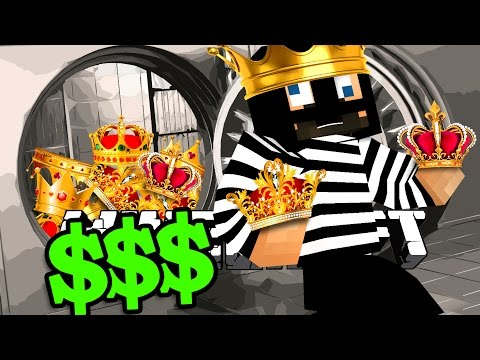 Minecraft: BANK HEIST | STEALING FROM THE KING?! PT.2