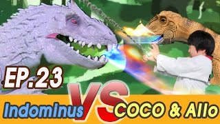 [EP23] Jurassic World (Indominus rex VS Coco & Allosaurus)  Dinosaurs Battle, Fighting Toys 공룡 만화 영화