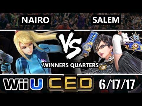 CEO 2017 Smash 4 - NRG   Nairo (ZSS) vs MVG   Salem (Bayonetta) Wii U Winner's Quarterfinals
