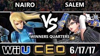 CEO 2017 Smash 4 - NRG | Nairo (ZSS) vs MVG | Salem (Bayonetta) Wii U Winner's Quarterfinals
