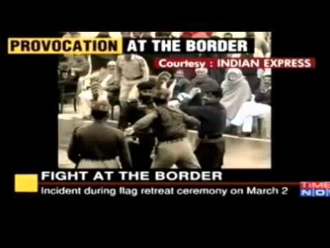 Indian BSF Jawan Punches Paki Ranger - Fight at the BORDER