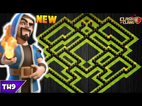 NEW TOWN HALL 9 FARMING/TROPHY BASE 2017! TH9 HYBRID BASE WITH REPLAYS(NO CC)!! -CLASH OF CLANS(COC)