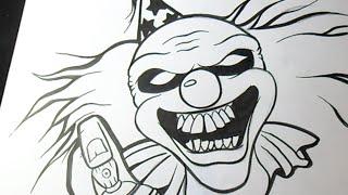 Cómo dibujar un Payaso Graffiti
