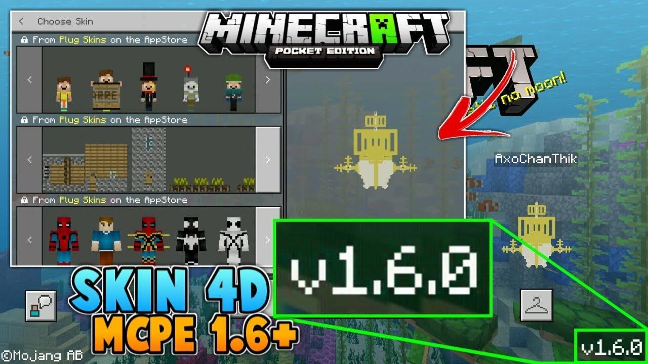 Skin 4d Masih Bisa Dipakai Di Mcpe 1 6 1 7 No Clickbait Minecraft Pe Youtube