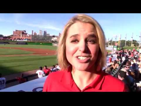 Lauren Rainson Throws First Pitch at Peoria Chiefs Game 2016