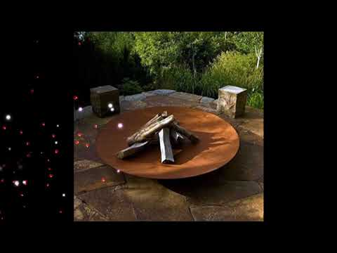 Best Metal Fire Pit Ideas, Steel Backyard Designs, Metal Fire Pit Ideas For Beautiful House #6