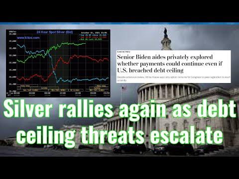 Silver rallies again as debt ceiling threats escalate