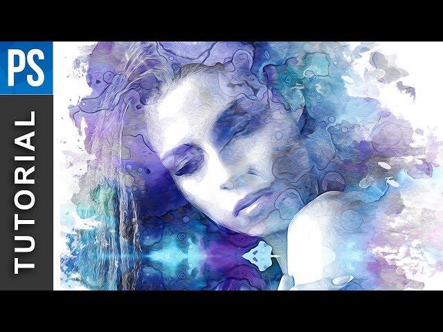 Beautiful Watercolor Portrait Effect - Photoshop Tutorial