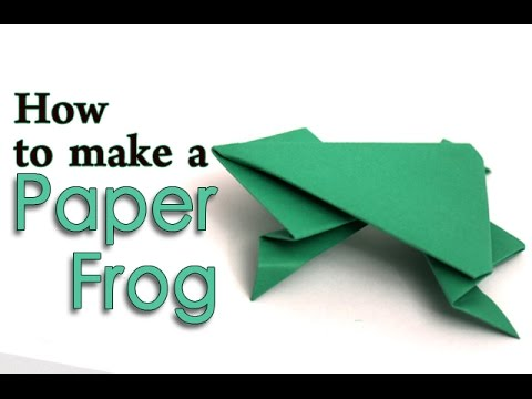 How To Make A Paper Jumping Frog Diy Easy Origami For Kids Youtube