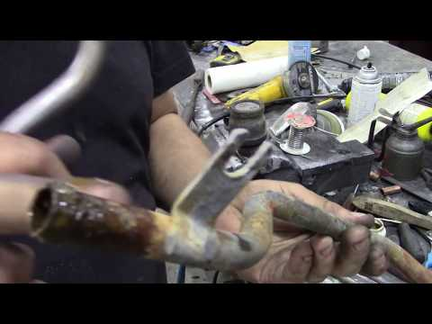 Salvaging the ends of steel heater pipes - until you find a better one