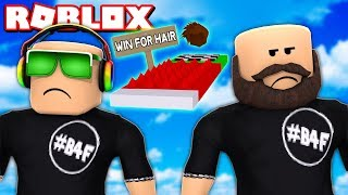 GET YOUR HAIR BACK in ROBLOX BE BALD OBBY!!!