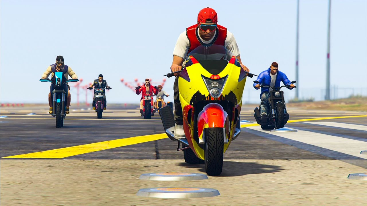 la moto la plus rapide test avec 15 motos gta 5 online youtube. Black Bedroom Furniture Sets. Home Design Ideas