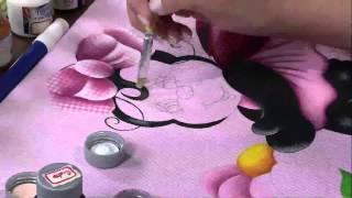 Pintura em Tecido Patch Colagem 3D Eliana Rolim Parte 2