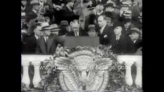"FDR Inauguration ""Fear Itself"" Sound Bite PublicDomainFootage.com"
