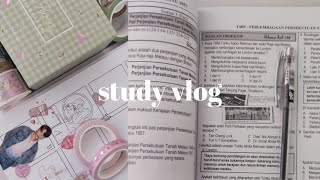 study vlog 📖 a productive weekend, journal supplies haul