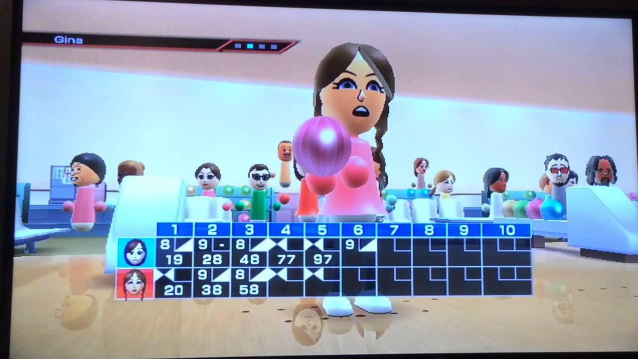 wii sports bowling match w anna cringe gina km youtube
