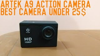 Artek A9 Action Camera-Unboxing & Review-best action camera in 1500rs/25$-must watch👍