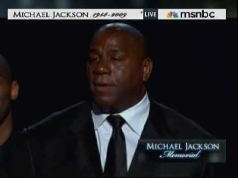 Michael Jackson Memorial Service - Kobe Bryant and Magic Johnson