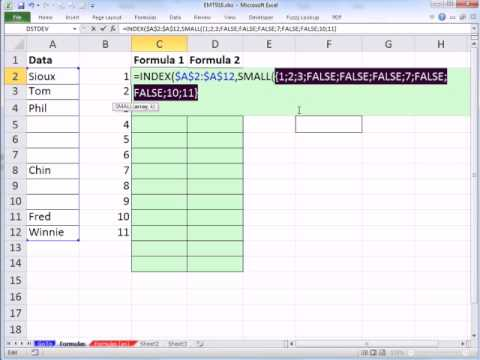 Excel Magic Trick 916 Remove Blanks In Data Validation Drop Down