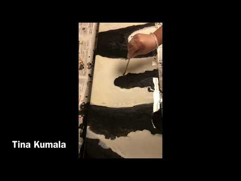 'One' Resin Painting Tutorial Black & White Tina Kumala