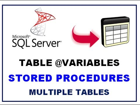 Sql server table variables stored procedures multiple for Table variable in sql server