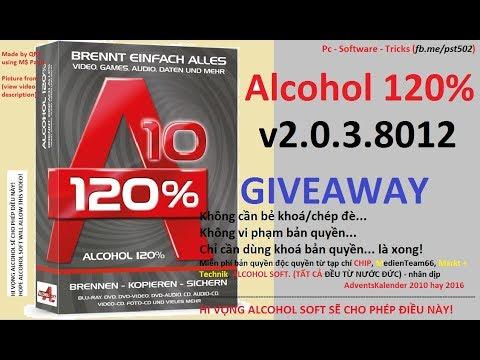 [VIE] Tặng bản quyền Alcohol 120% bản 10 Trọn đời (KO cần crack)
