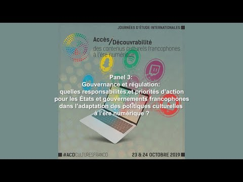 Panel 3 : Gouvernance et régulation