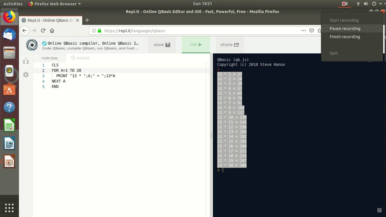 Qbasic: Loop and Nested Loop in Qbasic (FOR    NEXT   STEP  )