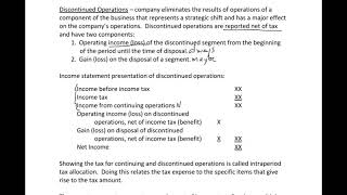 Income Statement 2 - Discontinued Operations
