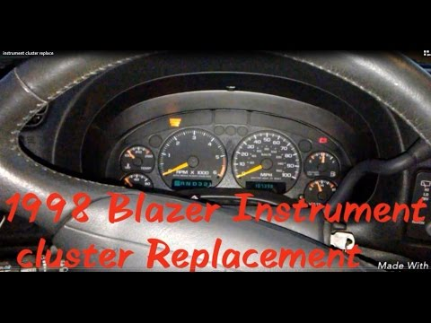1998 chevy blazer instrument cluster replacement