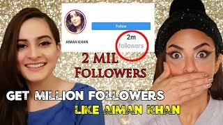 Minal Khan Twin Sister Aiman Khan Share How You Can Get Million Real Followers On Instagram Account?
