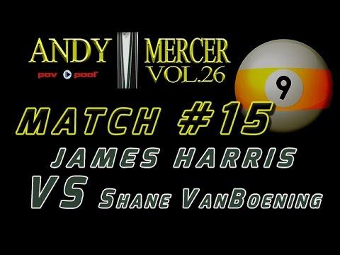 #15 • 2016 Mercer 9-Ball • Shane VANBOENING vs James HARRIS