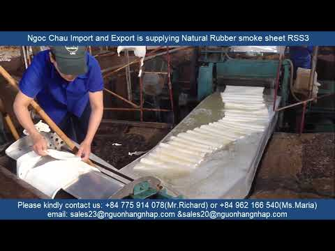 The process of manufacturing natural rubber smoke