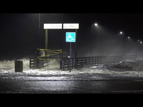 Hurricane Nate Landfall In Biloxi, MS - 10/7/2017