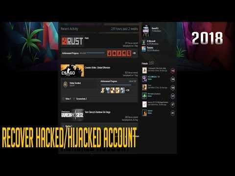 how to recover hacked/hijacked steam account - 2018 - 2019