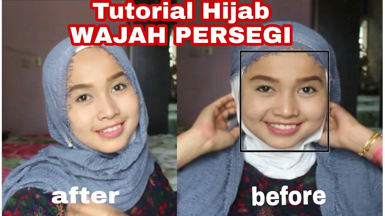 Tutorial Hijab Bentuk Wajah Persegi Youtube