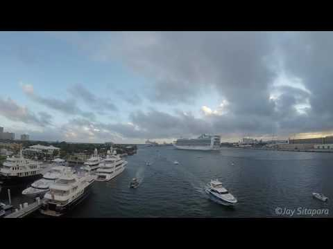 2016 - Time Lapse of Port Everglades, Fort Lauderdale, FL - Cruise Ships / Yachts