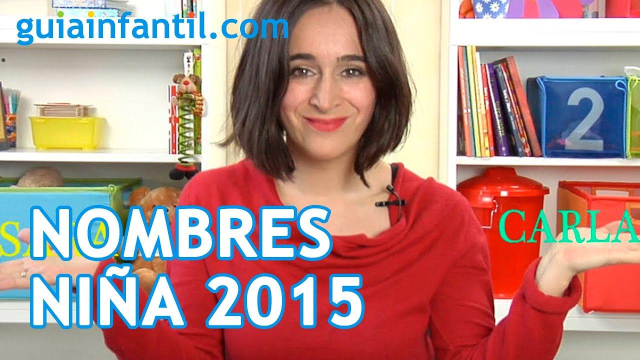 Los diez nombres más populares para niña en 2015