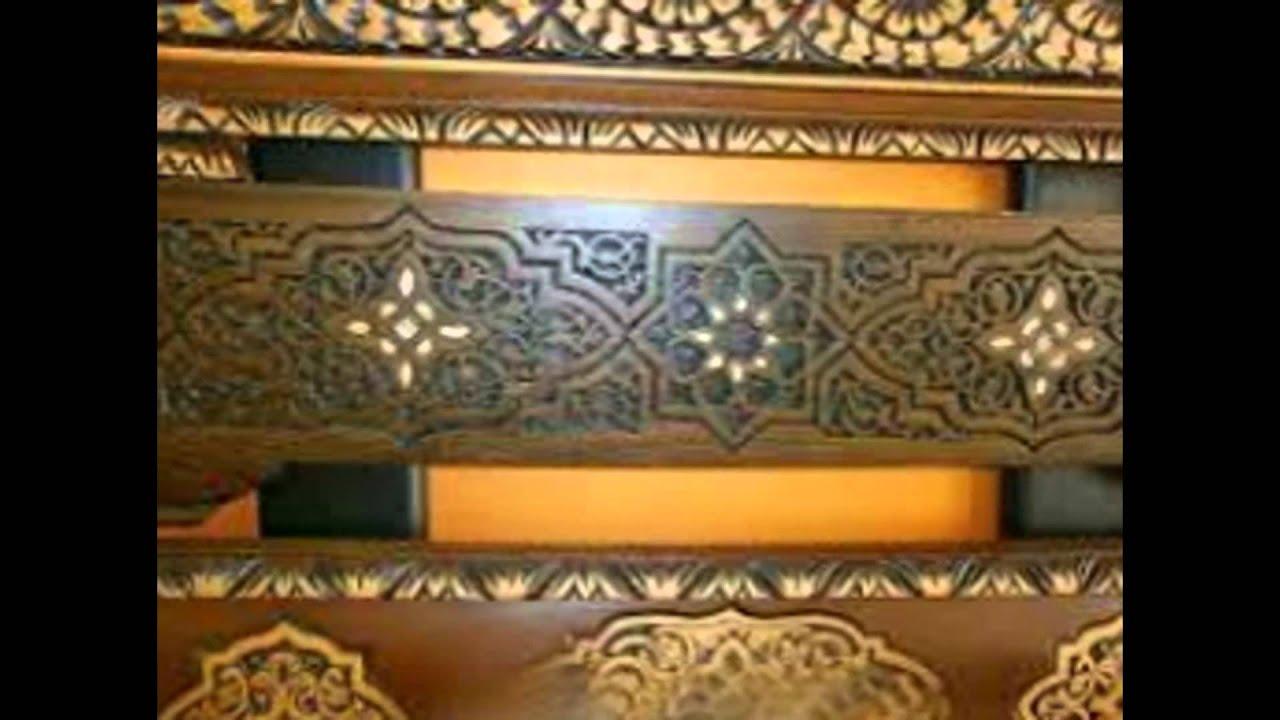 Faux plafond en bois pour les salon Marocain Contacte