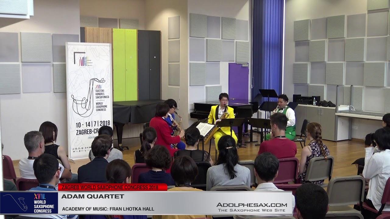 Recitation Book by DAvid Maslanka   Adam Quartet   XVIII World Sax Congress 2018 #adolphesax