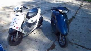 Обзор скутера Honda Dio 35 SR GBLK(Обзор Dio 35 + драгрейс., 2014-05-10T06:37:16.000Z)