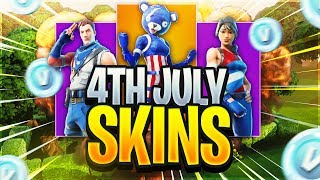 LEAKED 4TH OF JULY SKINS! - Fortnite Battle Royale Gameplay