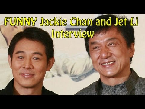 FUNNY Forbidden Kingdom Interview JACKIE CHAN & JET LI
