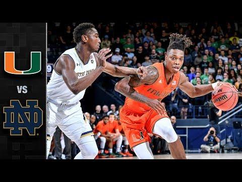 Miami vs. Notre Dame Basketball Highlights (2017-18)