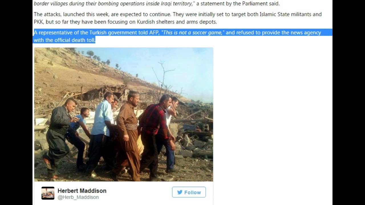 Turkey Bombing Kurds and villages in Northern Iraq! - YouTube