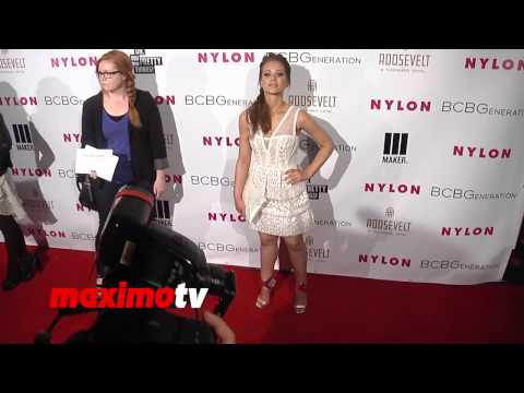 Amanda Leighton NYLON & BCBGeneration Young Hollywood Party Red Carpet