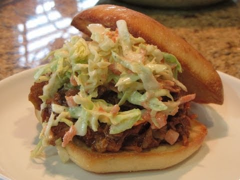 ~Spicy Pulled Pork In The Slowcooker~