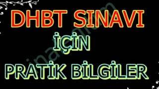 DHBT SINAVI İÇİN PRATİK NOTLAR 1 2017 Video