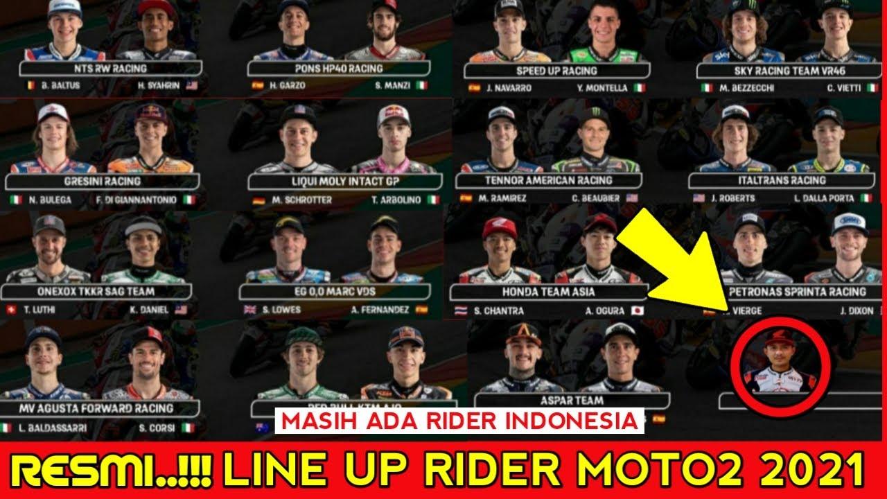 Line Up Rider Moto2 2021 - Daftar Pembalap Moto2 2021 - Rider Moto2 2021   Rider motogp 2021