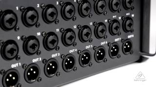 SD16 I/O Stage Box with 16 Remote-Controllable MIDAS Preamps, 8 Outputs, AES50 Networking, ULTRANET